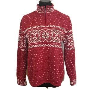 Vintage Lands' End  Holiday Pullover Sweater